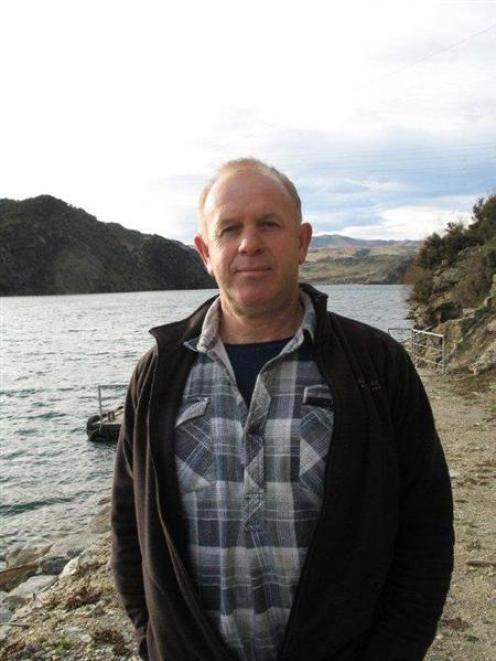 Roxburgh Gorge Trail Trust chairman Stephen Jeffery at the Roxburgh dam end of the gorge trail....