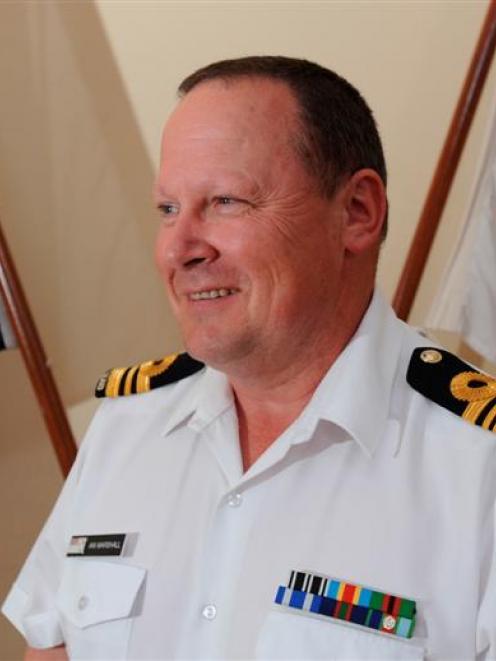 Royal New Zealand Navy resident naval officer Lieutenant-commander Ian Marshall, of Dunedin, is...