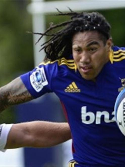 Ma'a Nonu has an ankle problem and only took a limited part in training.
