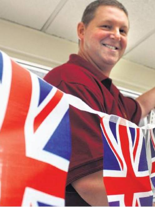 Rule Britannia . . . Union Jacks Groceries owner Andrew Lavelle says Mosgiel is a great place to...