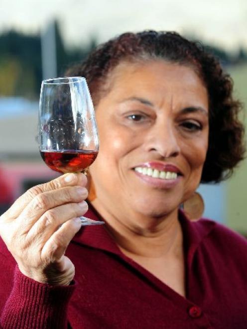 Joy Spence, master rum blender, of Appleton Estate in Jamaica with a Joy of Rum cocktail.  Photo...