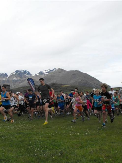 Runners in the final races in the Queenstown Frontrunner series take off from Jacks Point on...