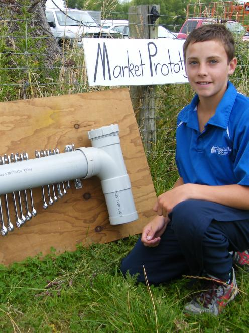 Ryan Taylor, 12, of Limehills School
