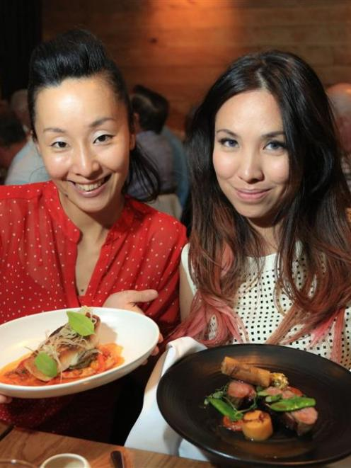 Sachie's Kitchen television host Sachie Nomura (left) with social media personality Marischka...