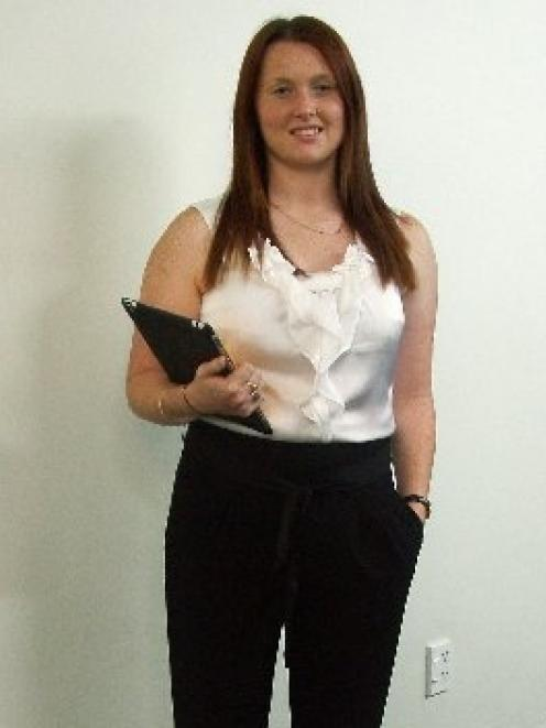 Samantha Berry gets ready to launch her tutoring business for University of Otago students. Photo...