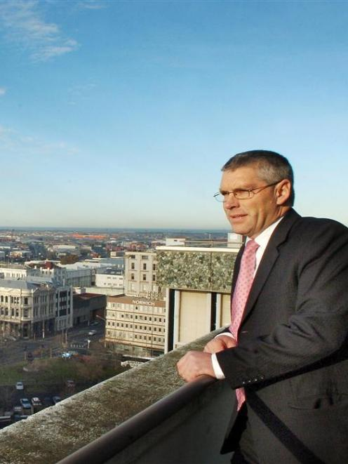 Scenic Hotel Group director Stuart McLauchlan on the site of the new Dunedin City Hotel rooms....