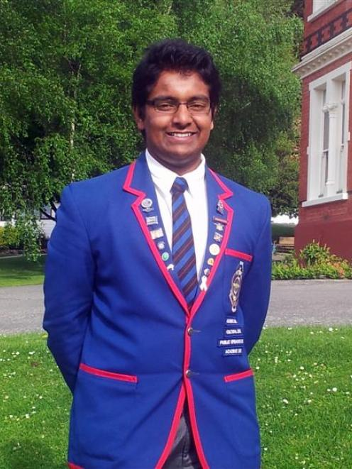 Scholarship winner Jibi Kunnethedam, at St Kevin's College.  Photo supplied.