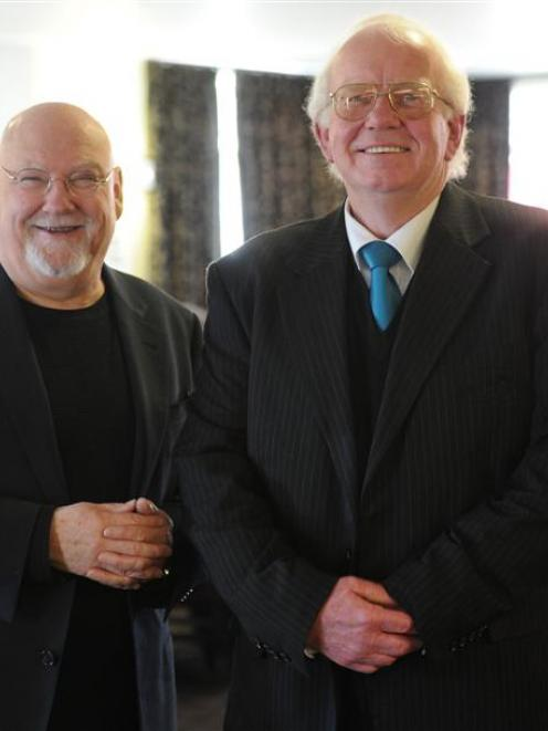 Scientist Sir Ray Avery (left) and Malcam Charitable Trust founder Malcolm Cameron chat about...