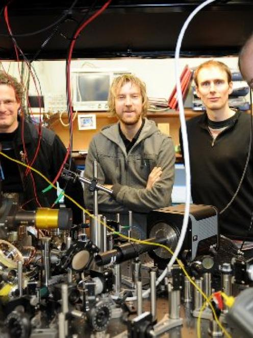 Scientists (from left) Dr Tzahi Grunzweig, Matt McGovern, Dr Andrew Hilliard and team leader Dr...