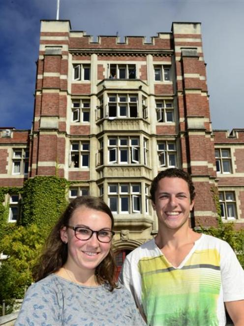 Second-year Knox residents Imogen Scott (20) and Jake Mills (20) are both happy with the...