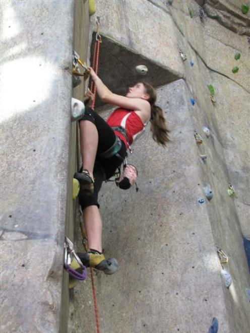 Shania Gibson (15), of Christchurch, finished third in the female youth A under-18 section. Photo...