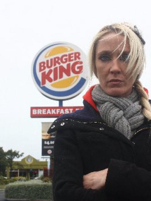Sharmaine Paterson is angry it took a week for Burger King to respond to her complaint about a...
