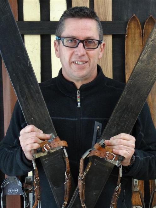 Shaun Guyton likes both the historical and craftsmanship side of vintage skis. Photo by David...
