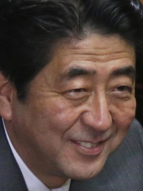 Shinzo Abe. Photo by Reuters
