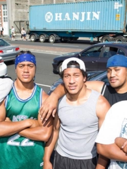 Siale Kala (left), Simione Maamaloa, Viliami Maamaloa, Paul Taulava and Sione Maamaloa tried to...