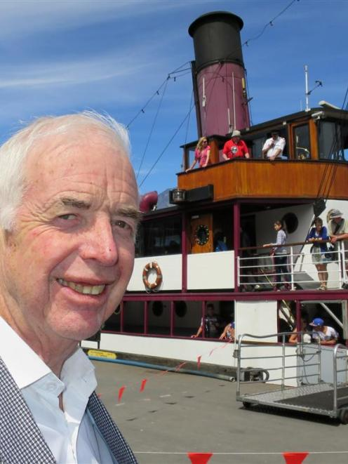 Sir Eion Edgar, who booked  TSS Earnslaw for his 70th birthday bash at Walter Peak yesterday. ...