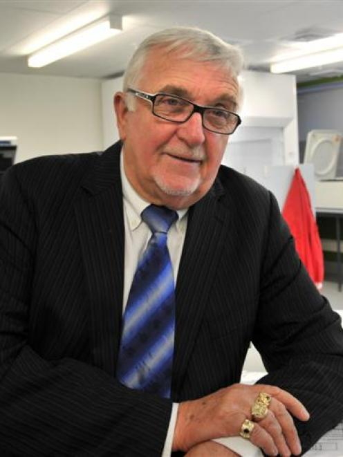 Sir Peter Leitch was in Dunedin yesterday to visit the laboratory that tests his urine to detect...