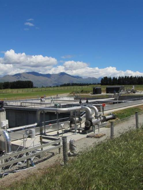 Sludge from the Queenstown Lakes District Council's Project Pure sewage treatment plant near...