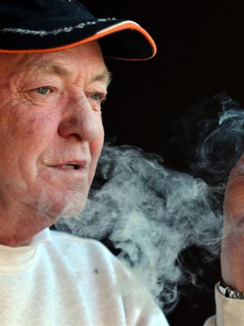 Smoker Peter Wilkinson, of Dunedin, says the new legislation is a good thing. Photo by Peter...