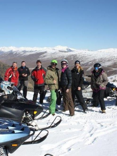 Snowmobile tours on the Pisa Range, near Wanaka, will not be available this winter. Photo supplied.