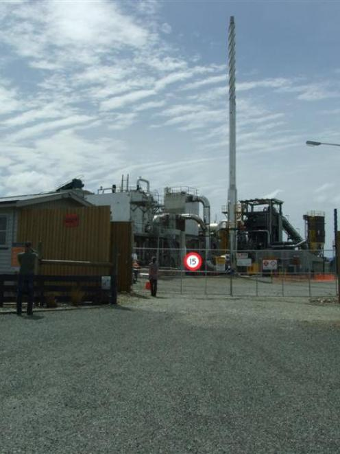 Solid Energy's demonstration briquette plant on Craig Rd, south of Mataura. Photo by Helena de Reus.
