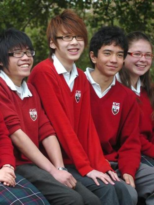 Some of the 46 international pupils at Kaikorai Valley College. Photo by Peter McIntosh.