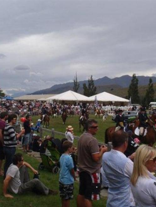 Some of the more than 5000 people who attended the Lake Hayes A and P show on Saturday enjoy the...