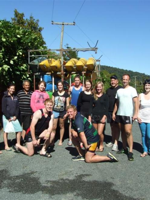 Some of the new Clutha district youth councillors and their mentors after a two-day retreat in...