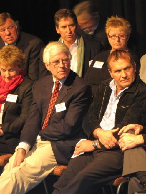 Some of the Queenstown Lakes District Council candidates: Back, from left, Grahame Thorne,...