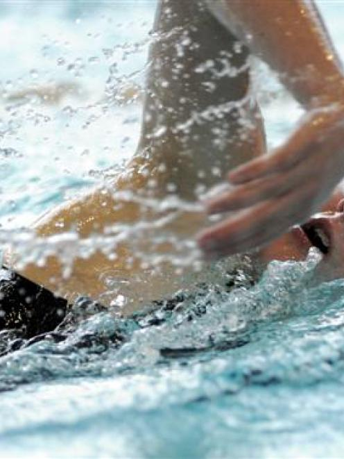 Sophie Fairbairn (Wanaka) in action in the girls aged 15 and 16 400m freestyle. She came second...