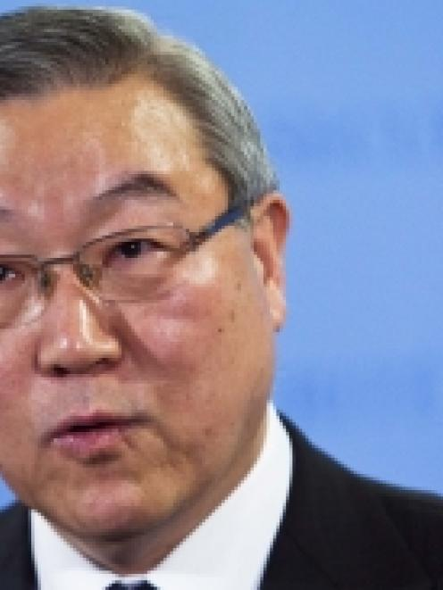 South Korea's Foreign Minister Kim Sung-Hwan at the UN headquarters where the Security Council...