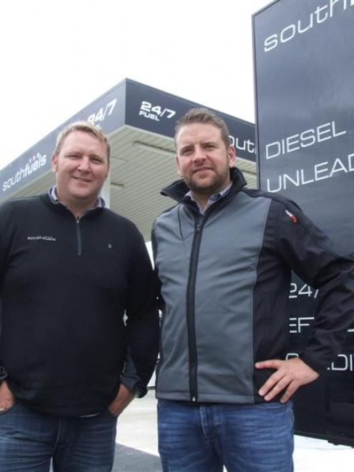 Southfuels Otago territory manager Ross Moody (left) and sales and marketing general manager Greg...