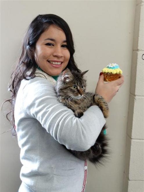 SPCA Otago volunteer Katherine Halkett can not wait to bake and sell 60 cupcakes to raise money...