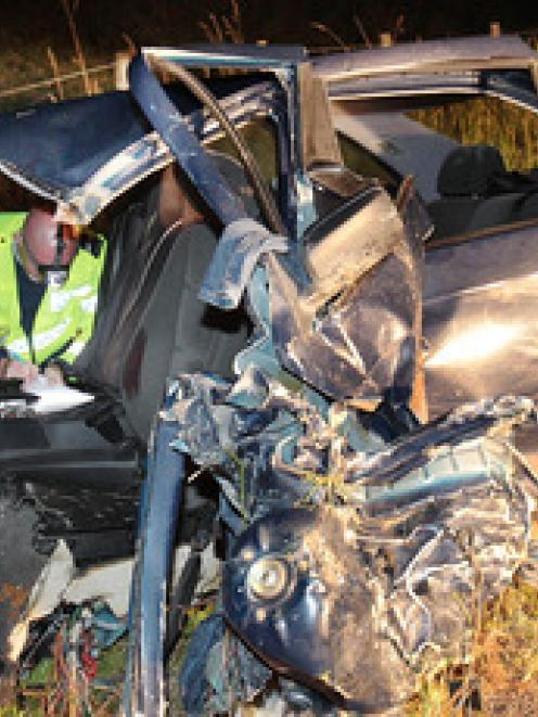 Speed is believed to be a factor in the accident that ripped apart this BMW. Photo from APN.