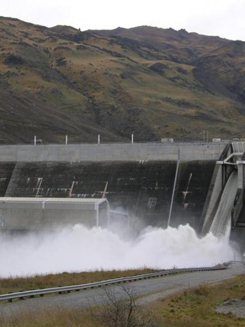 Spilling water at hydro dams has hurt Contact Energy's profit forecasts. Photo by Rosie Manins.