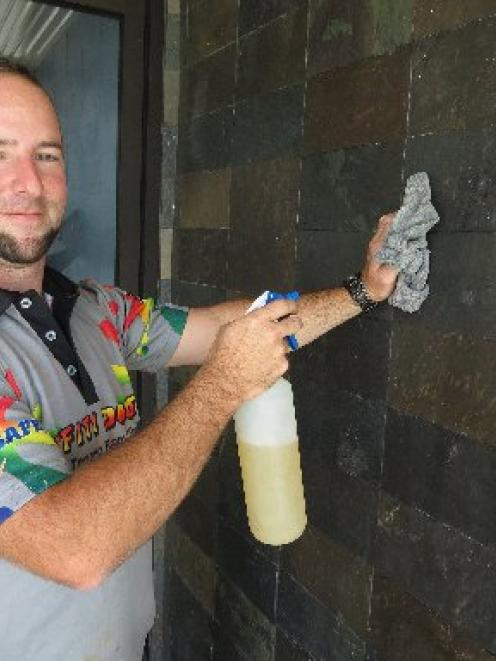 Squeaky clean ... Graffiti Doctor Dunedin operator Roger Knauf says graffiti is an ongoing...