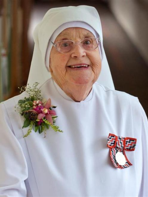 Sr Marie on her 100th birthday yesterday. Photo by Gerard O'Brien.