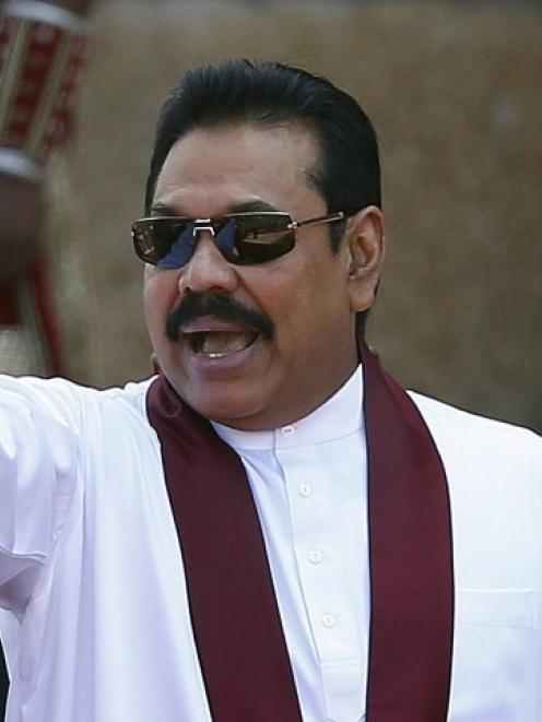 Sri Lankan President Mahinda Rajapaksa. Photo Reuters