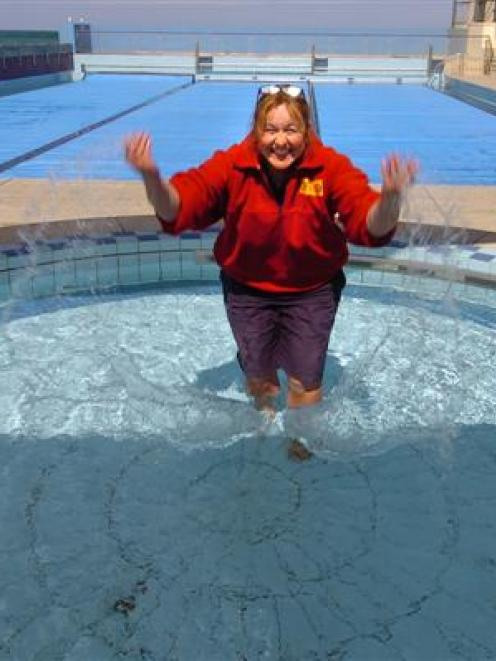 St Clair Salt Water Pool supervisor Gaye Brooks is ready and waiting for her first customers of...