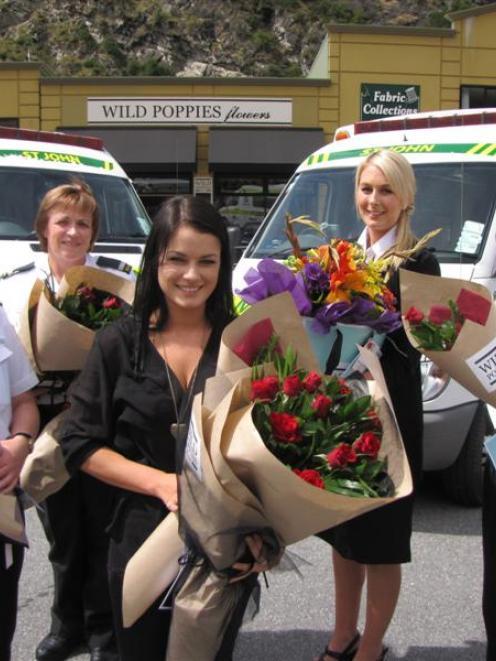 St John  first responder Yvonne Rosney (left) with St John intensive care paramedic Dianne Payne,...