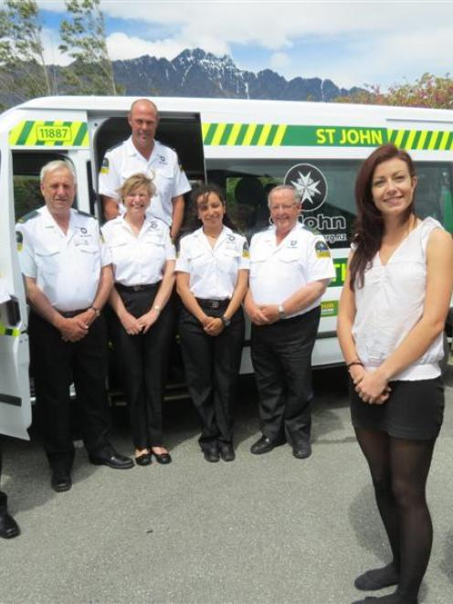 St John Wakatipu Health Shuttle drivers (from left) Rod Sullivan, Evan Paterson, Claudia Faichney...