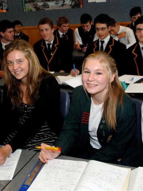 St Margaret's College pupils (from left) Katherine Harper, Maddie Mark, Charlotte French and...