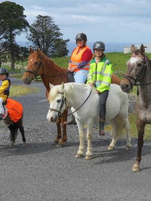 Safety concerns ... Horse Riders of Dunedin Unite group members and friends, (from left) Rikki...