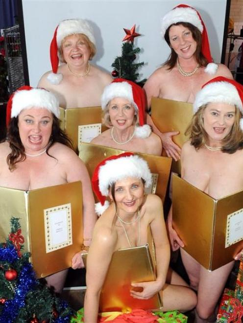 Starring in the Fortune Theatre's upcoming production of Calendar Girls are (back row from left)...