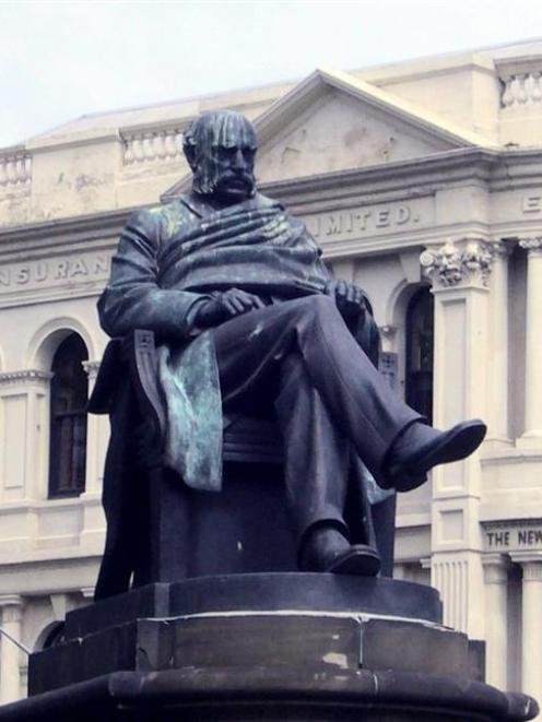 Statue of the Rev Dr Donald Stuart in the Queens Gardens. Photo supplied.