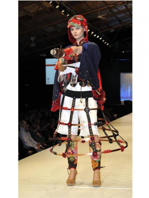 Hokonui Heritage Steampunk Award-winners were designers Amanda Hasselman and Kate Scott, of...