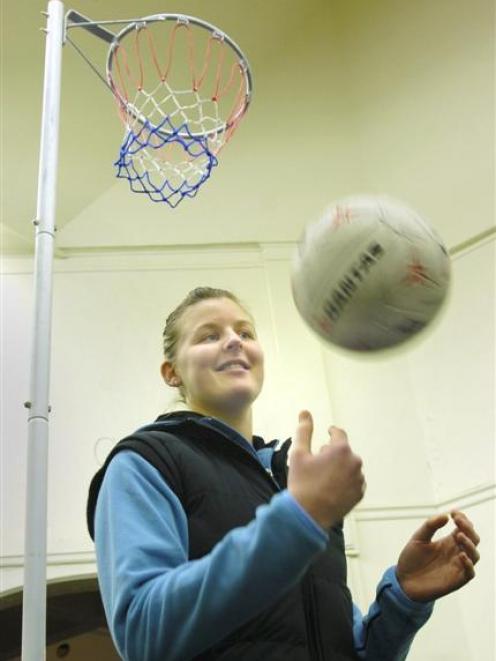 Katrina Grant, Otago netball Steel defender. Photo by Adrian Seconi.