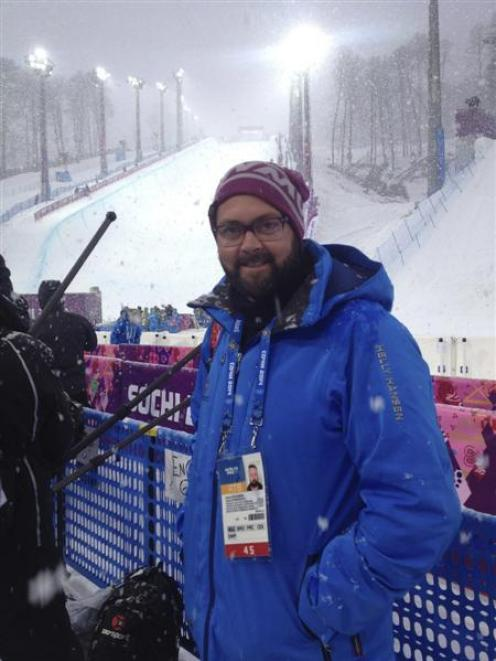 Stevenson at the Winter Olympics in Sochi earlier this year. Photo supplied.