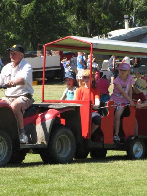Stew Francis, of Naseby, drives countless rounds of the park during the New Year's Day Naseby...