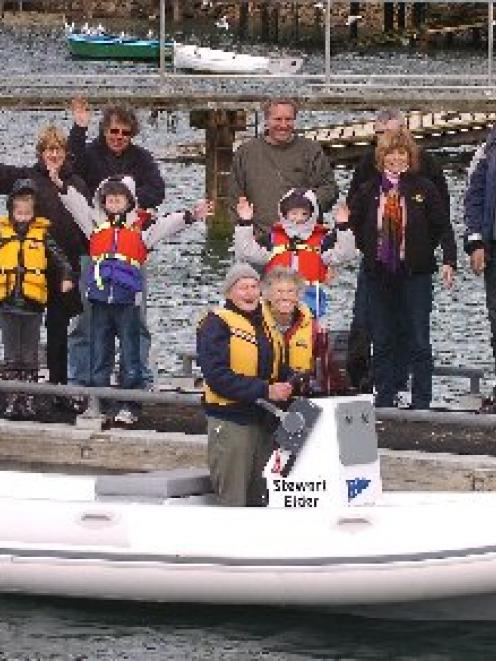 Stewart and Doreen Elder at the launch of the Stewart Elder rescue boat at Port Chalmers Yacht...